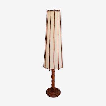 Lampadaire bambou Louis Sognot années 50/60