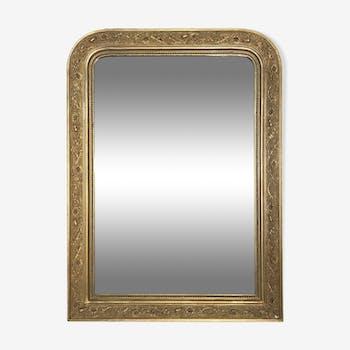 Ancien miroir Louis Philippe, glace au mercure, 97x71cm