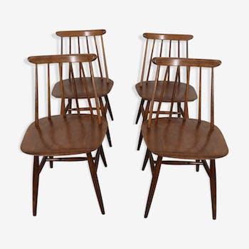 Set of four chairs Fanett of Ilmari Tapiovaara