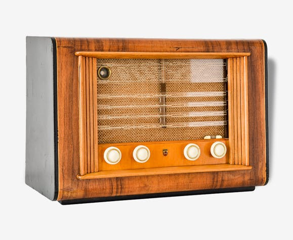 poste radio tsf restaur et quip en bluetooth philips 591a datant de 1949 bois mat riau. Black Bedroom Furniture Sets. Home Design Ideas