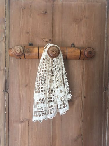 Porte-manteau bois 3 patères
