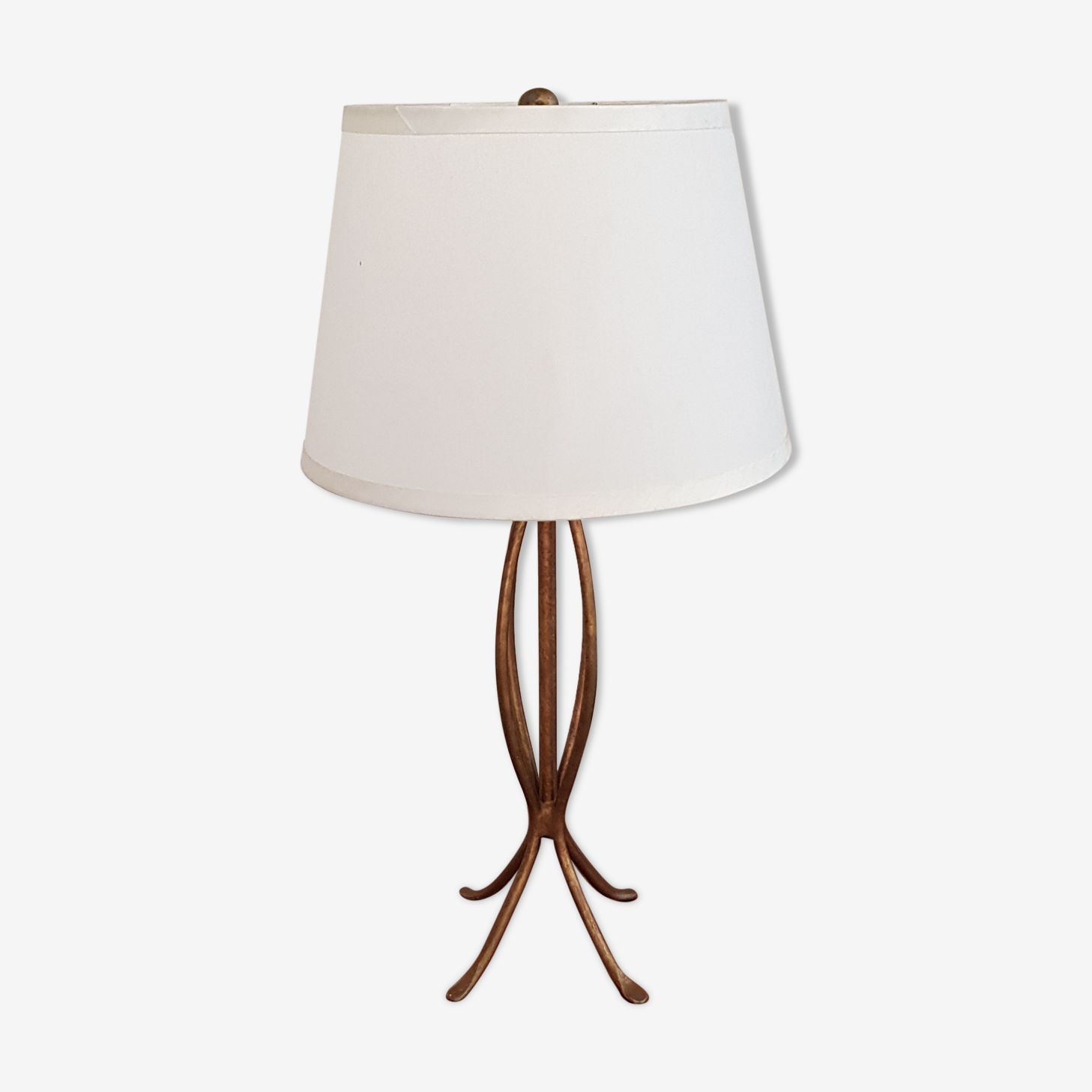 Lampe de table en métal doré 1950