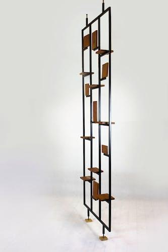 Claustra de de métal et de bois, années 1970