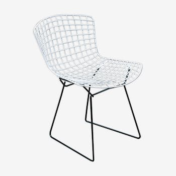 Harry Bertoia black and white Wire Chair edition Knoll