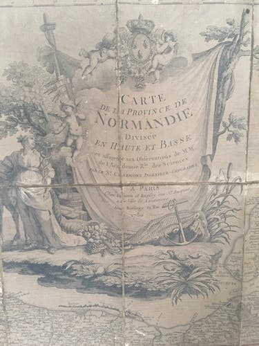 Old map of the Province of Normandy, 1780
