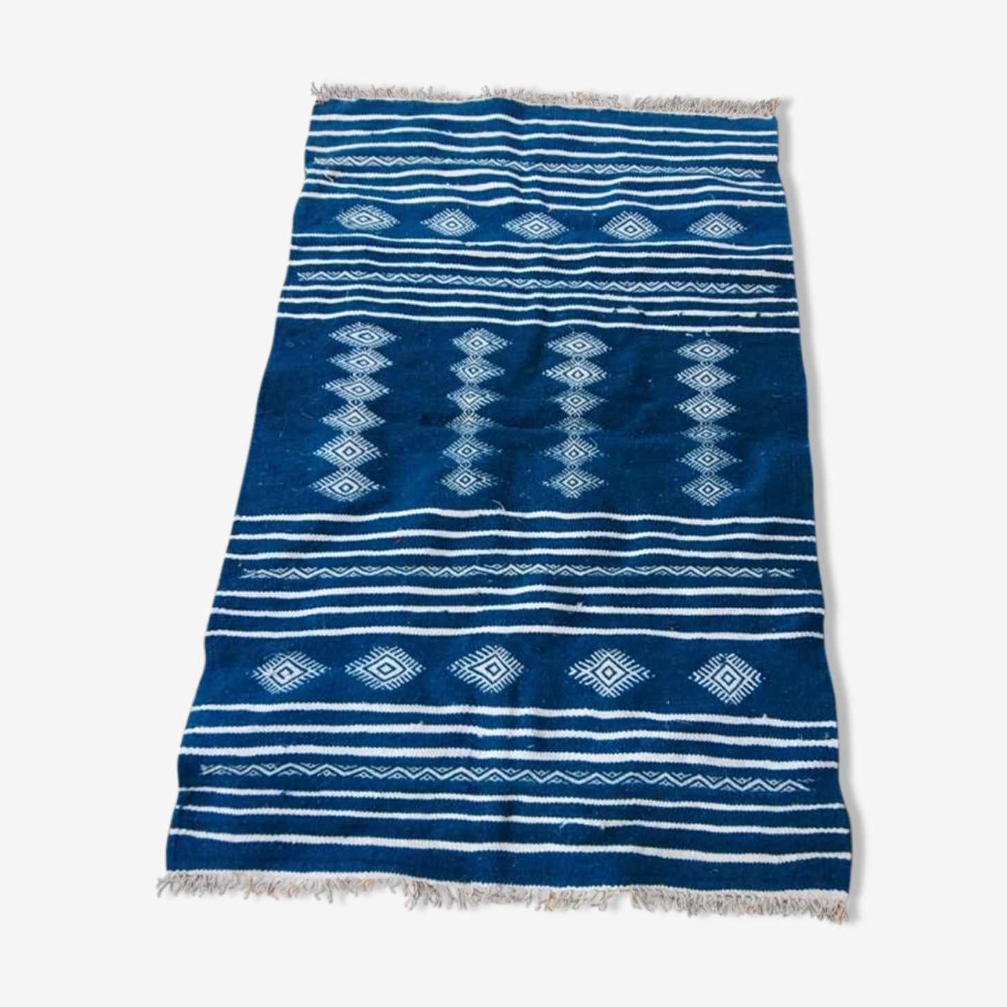 Tapis kilim bleu 145x93cm