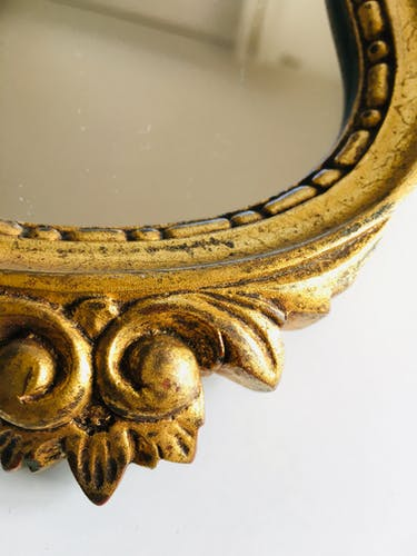 Miroir doré 32x18cm