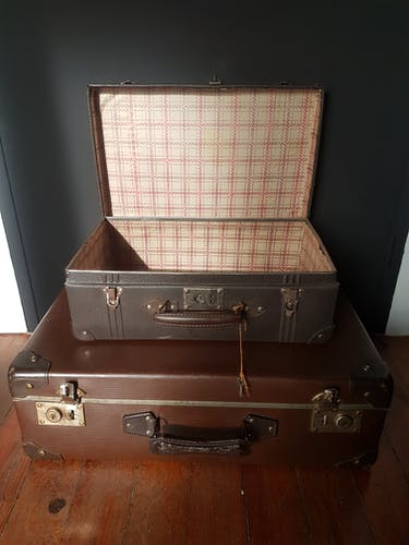Decorative suitcases 1950