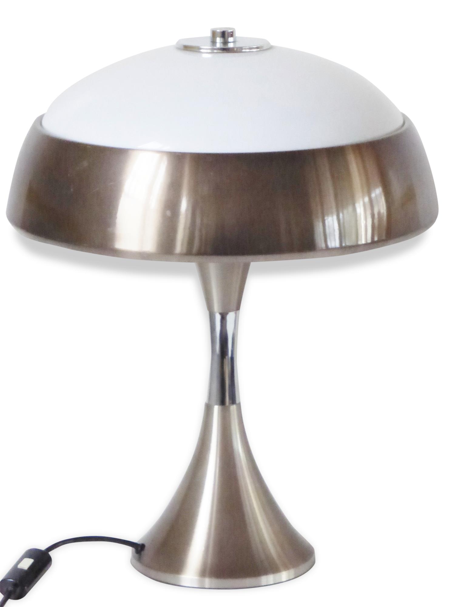 Importante Lampe De Bureau Champignon 1970 Vintage Space Age 70'S