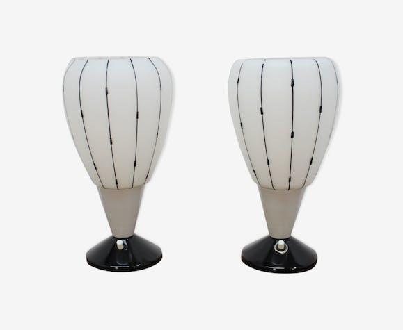 1950 ensemble de deux lampe de table par Drukov