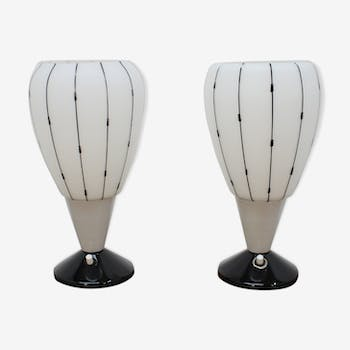 1950's set of two table lamps by Drukov