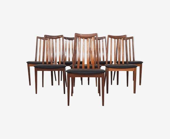 Lot de 8 chaises de salle à manger par Leslie Dandy pour G-plan, design Britannique, des années 60