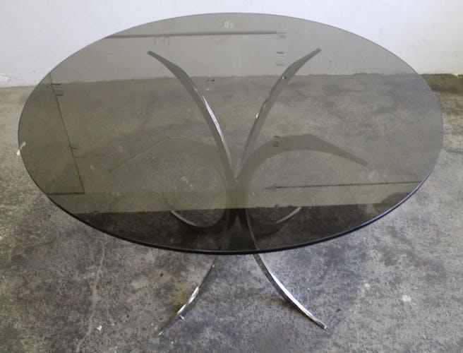 Table Boris Tabacoff édition Christofle verre