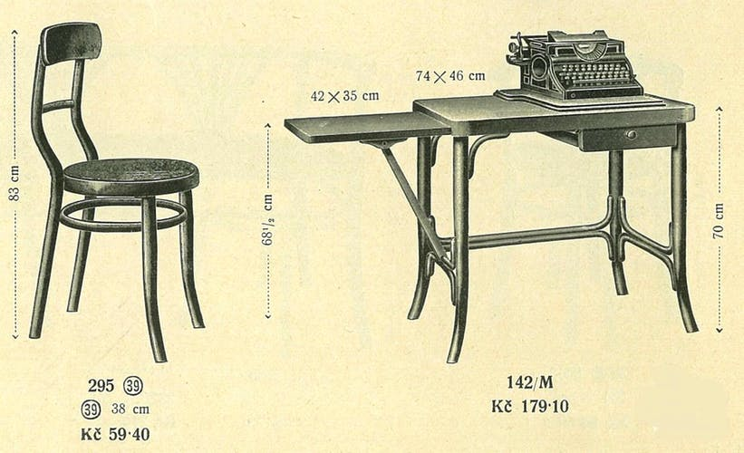 "Chaise de métier ""dactylo"" 1925 Baumann"