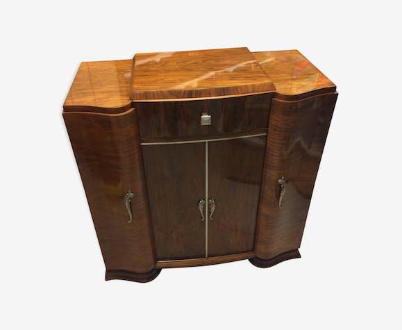 Phono Art Deco Bar Furniture Wood Yellow Art Deco Cirgscl