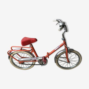Foldable vintage metal children's bike