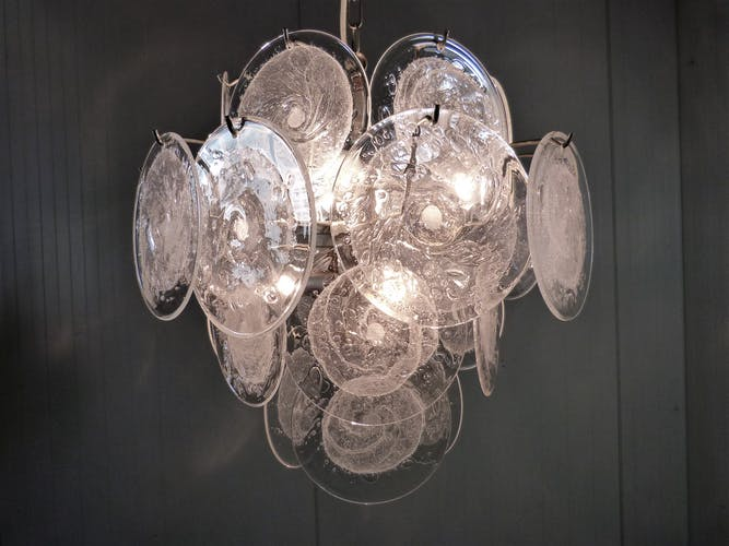 Chandelier Glass Vistosi Disc