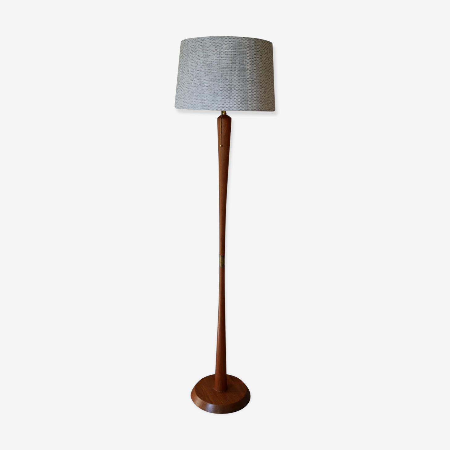 """Scandinavian """"diabolo"""" teak floor lamp, 1960s"""