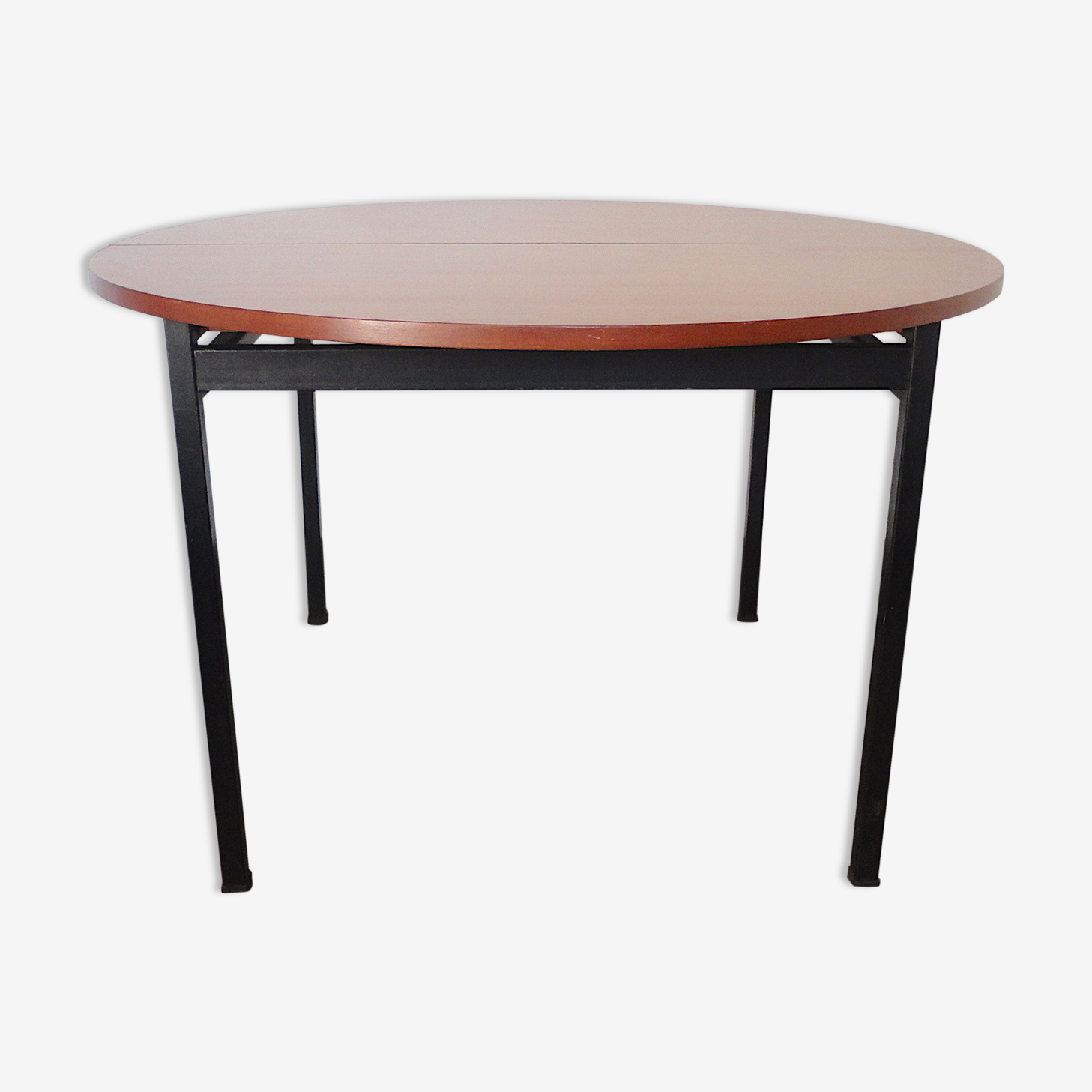 Table dining round by Claude Vassal for cell, 1950