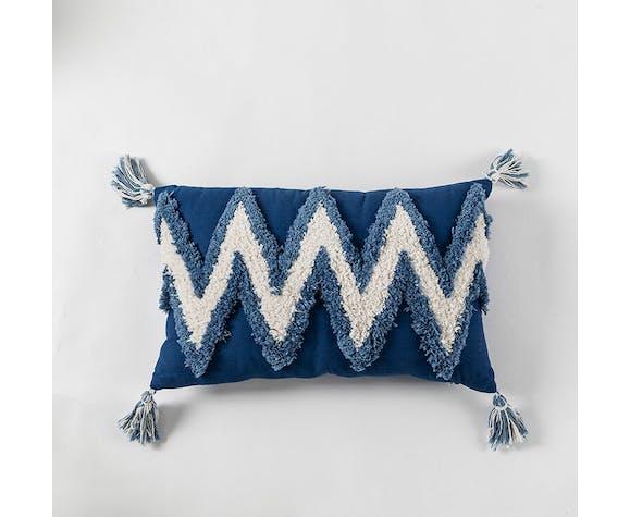 Berber blue bohemian cushion 30x50 cm