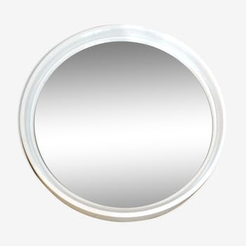 1970s round wall mirror by Gilac - 40cm