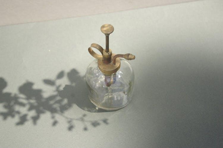 Vintage transparent glass spray
