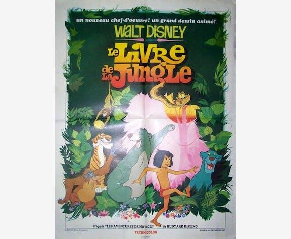 Affiche Cinema Originale De 1967 Walt Disney Le Livre De La Jungle Paper Good Condition Vintage 8077