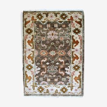Tapis vintage indo-mahal fait main 64 x 97cm 1980s