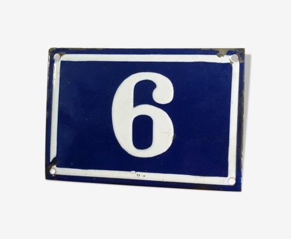 Old enamel house number plate
