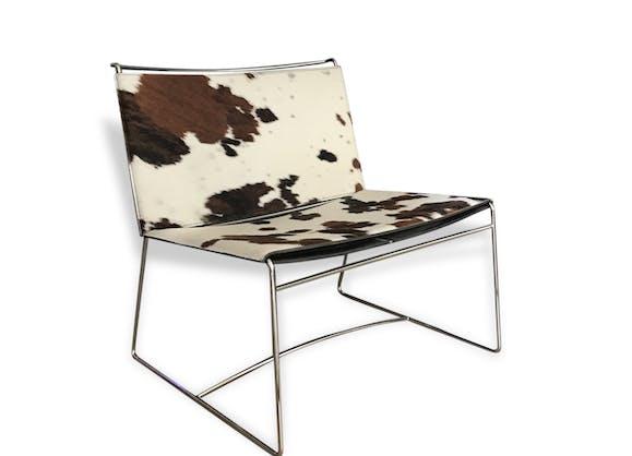 chauffeuse en peau de vache cinna peau marron bon. Black Bedroom Furniture Sets. Home Design Ideas