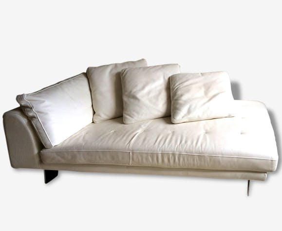 canap m ridienne roche bobois cuir blanc cuir blanc design 62800. Black Bedroom Furniture Sets. Home Design Ideas