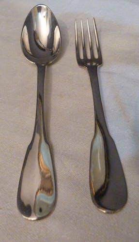 Paire de cuillères et fourchettes Christofle