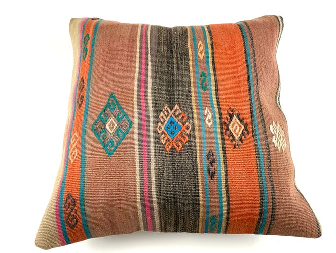 Vintage Turkish kilim cushion cover 55x55cm
