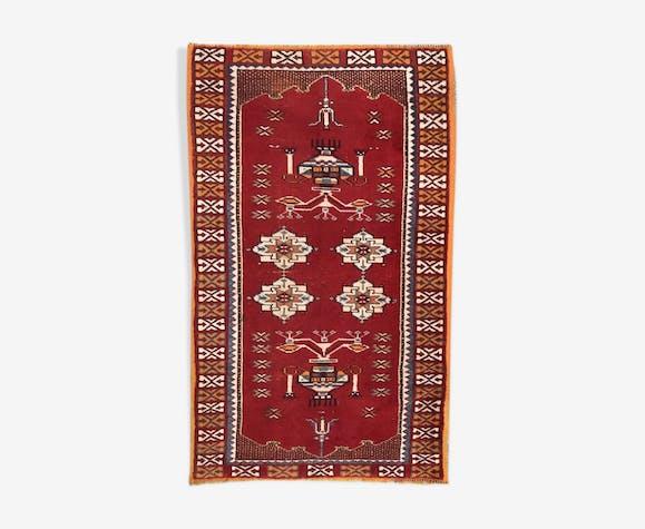 Tapis ancien marocain berbère  126x210 cm