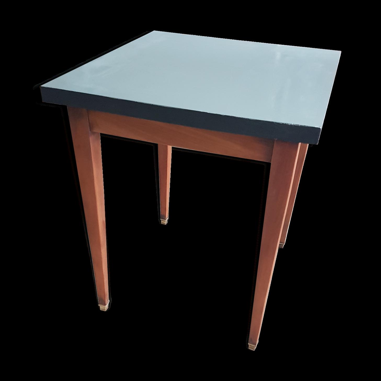Table de bistrot en bois et formica des années 50/60