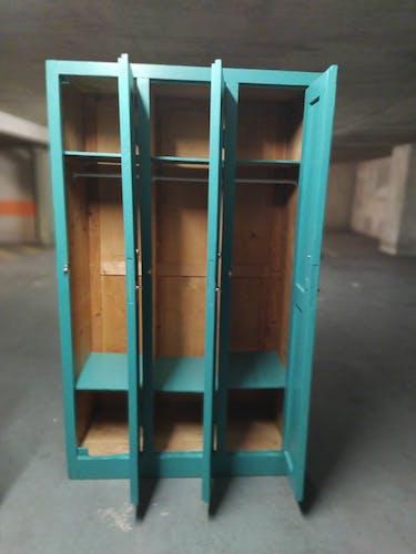 Vestiaire bois 3 casiers
