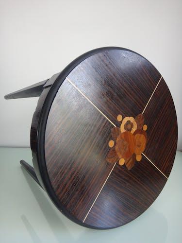 Guéridon Art Déco palissandre macassar table selette marqueterie 1930