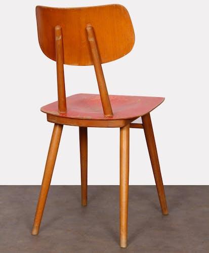 Chaise vintage en bois pour le fabricant Ton 1960
