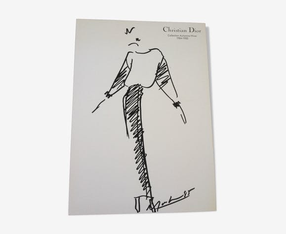 Illustration de mode et photographie vintage de presse Christian Dior des années 80