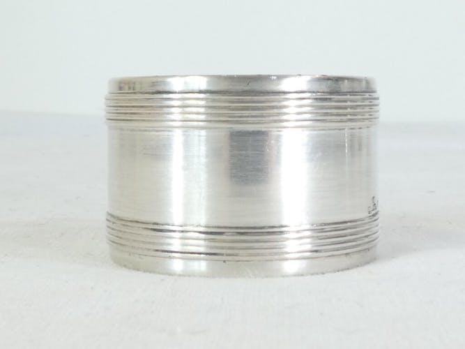 Coquetier et rond de serviette Christofle en métal argenté