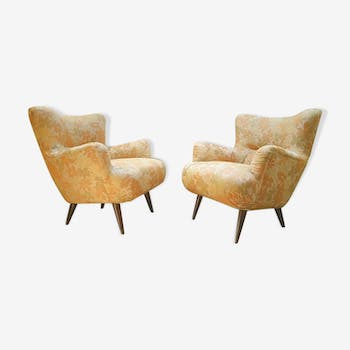 Pair of chairs design organic vintage 50s 60s
