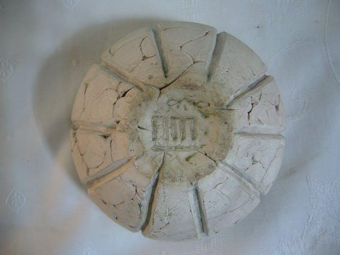 Coupe en céramique multicouche céramique brute et intérieur émaillé monogrammé