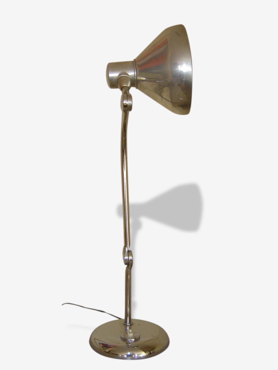 Lampe Jumo Gs1 Finition Chrome Metal Argent Couleur Vintage