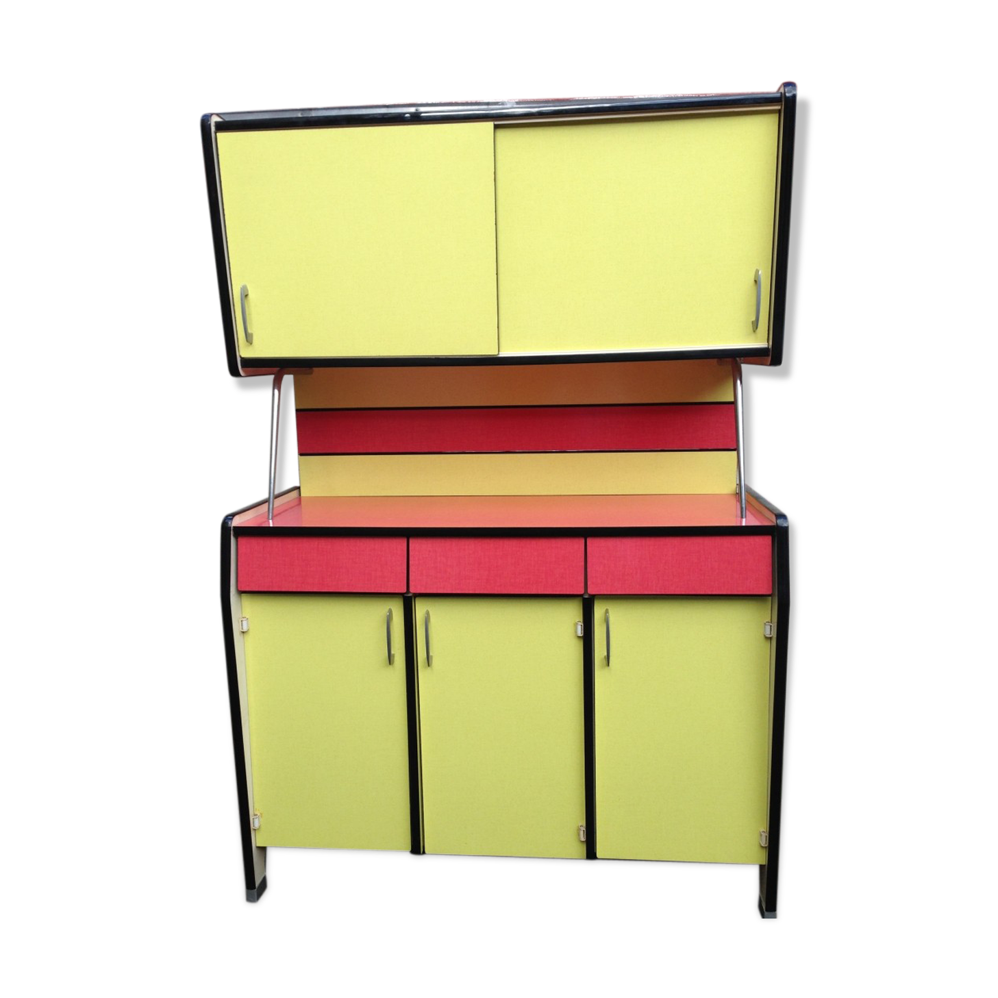 Emejing buffet formica restaure pictures design trends for Meuble en formica