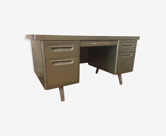 Bureau industriel acier yac métal vert industriel cflcoxw