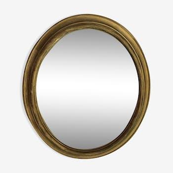 Miroir en bois doré  60x48cm