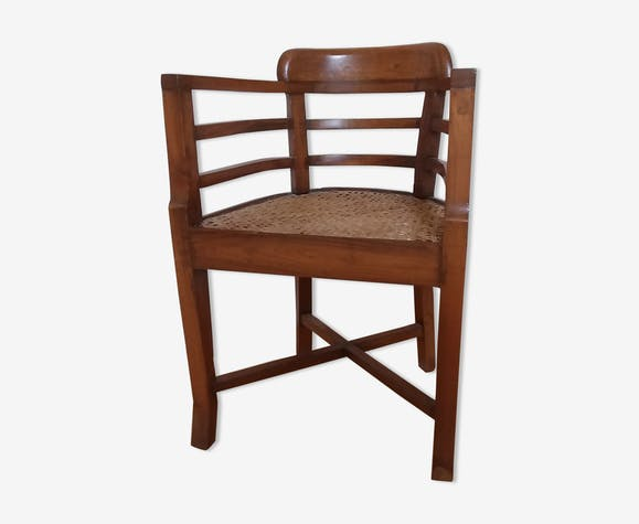Circassians 1940 Indian colonial style teak armchair | Selency