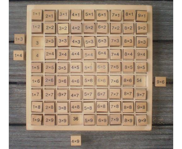 Cubes pour apprendre les tables de multiplication