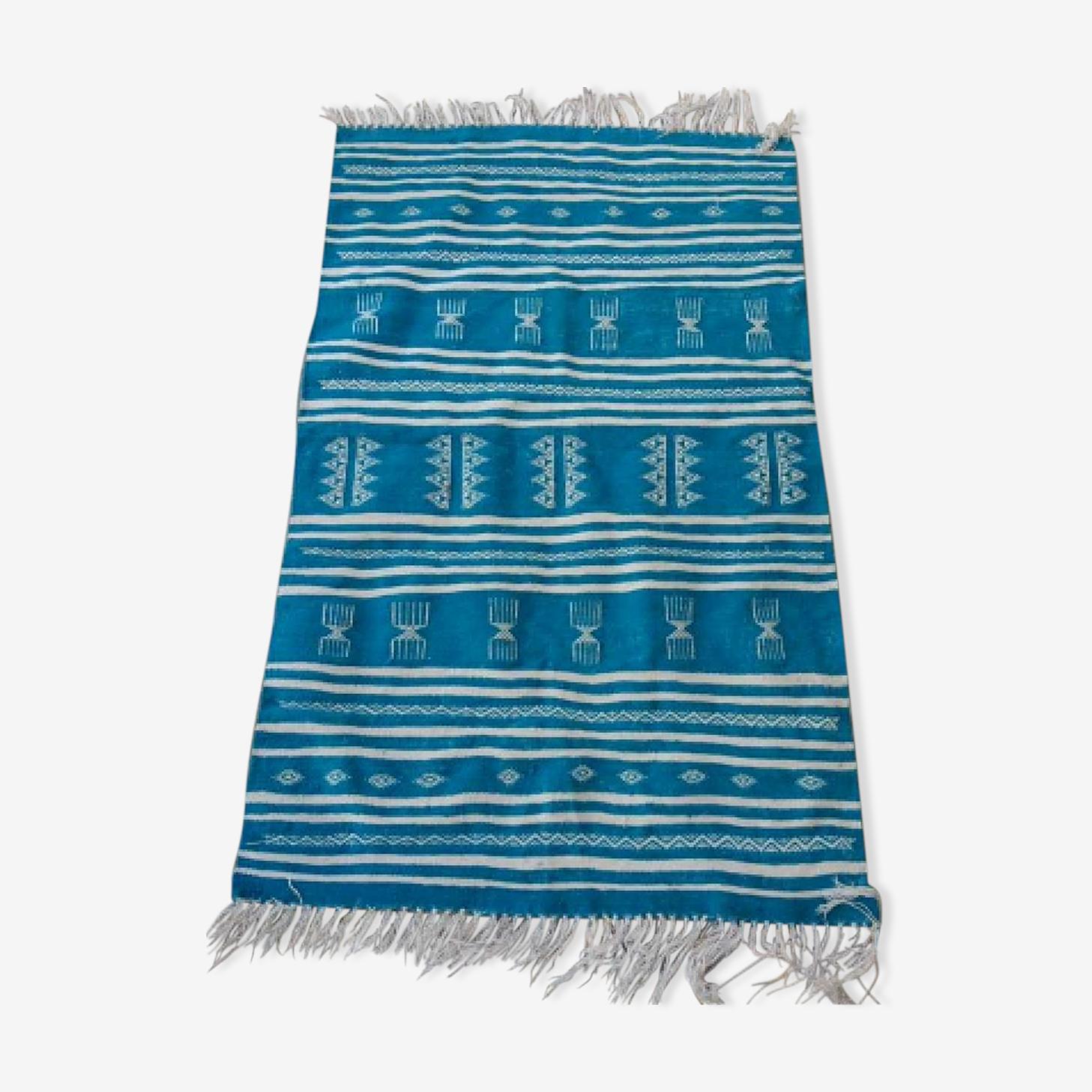Tapis kilim bleu 97x156cm