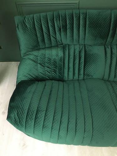 Français Vintage Retro Green 2 sofa ARALIA Ligne Roset 1982s